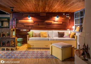 Garajul unei case din Brasov transformat intr-o frumoasa camera de zi