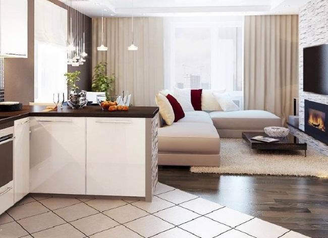 1-imbinare in diagonala gresie si parchet amenajare living open space