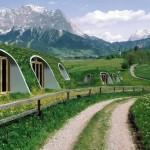 1-integrare casa acoperita de pamant si iarba in mediul inconjurator