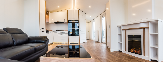 1-interior living open space cu bucatarie casa mobila Rot Resort Anna model 2018