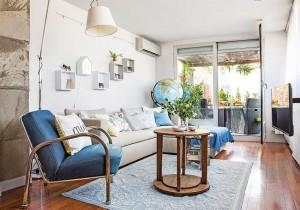 1-living apartament 2 camera extins in terasa alaturata