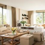 1-living apartament decorat in culori pastelate