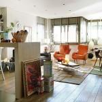 1-living apartament modern accente retro portocalii