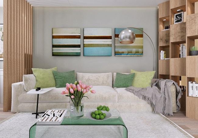 1-living apartament modern si tineresc cu accente de verde
