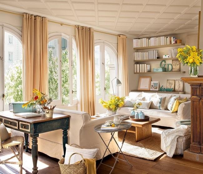 1-living luminos datorita finisajelor si textilelor folosite in decor