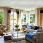 1-living mare crem cu accente albastre casa veche restaurata
