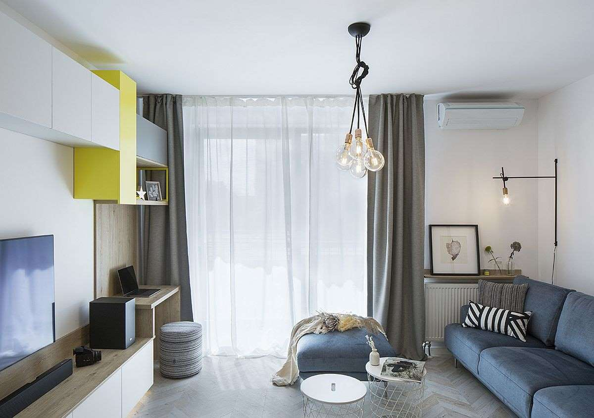 1-living-modern-accente-galbene-apartament-Bucuresti