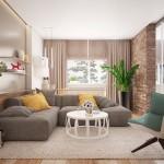 Caramida aparenta – finisaj in amenajarea unui apartament modern