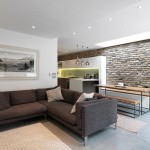 1-living modern industrial apartament extins Londra