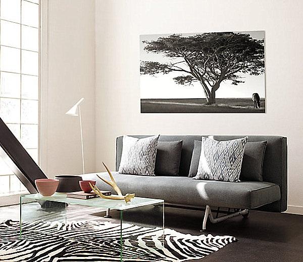 1-living modern minimalist decorat in alb si negru
