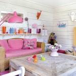 1-living rustic cu accente cromatice roz casa colorata