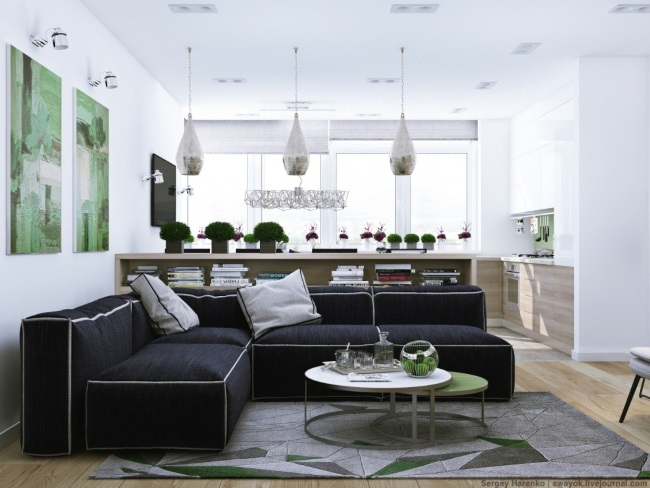 1-living si bucatarie open space apartament 4 camere modern renovat