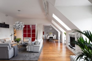 1-living si bucatarie open space apartament cu 4 camere Stockholm