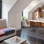 1-living si bucatarie open space apartament mansardat