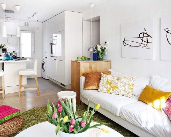 1-living si bucatarie open space apartament mic 40 metri patrati