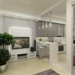 Usi glisante – pereti despartitori in amenajarea unui apartament mic