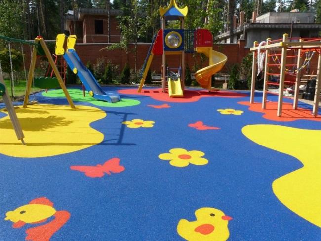 1-loc de joaca pentru copii cu pardoseala decorativa din tartan