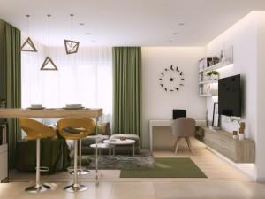 1-loc de luat masa in living open space mic apartament modern
