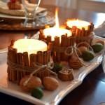 Decoratiuni frumoase cu lumanari pentru masa de Revelion