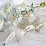 Proiect DIY: confectionarea unei lustre 3D cu flori si fluturi handmade
