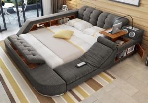 1-masuta de laptop seif veioza si boxe integrate in patul multifunctional