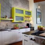 1-mobila bucatarie moderna alb cu verde fistic