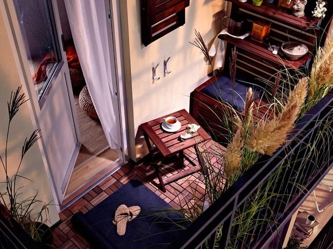 1-mobila compacta balcon bancuta cu lada de depozitare cuier si etajera