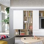 1-mobila living modern combinatie alb si fag