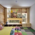 1-mobila pentru depozitarea jucariilor in jurul ferestrelor din camera copiilor