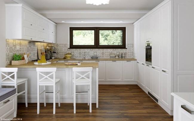 1-mobilier alb incapator bucatarie stil clasic proiect amenajare Manuel Saliche