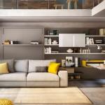 1-mobilier multifunctional living cu canapea pat rabatabl si dulap