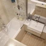1-model amenajare baie moderna in nuante de bej