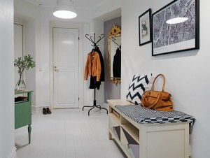 1-model bancuta cu sertare si polite decor hol stil scandinav