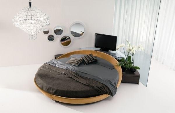 1-model de pat rotund in amenajarea dormitorului