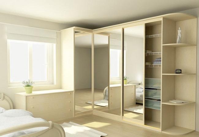 1-model dressing cu doua laturi si fronturi placate cu oglinzi amenajare dormitor