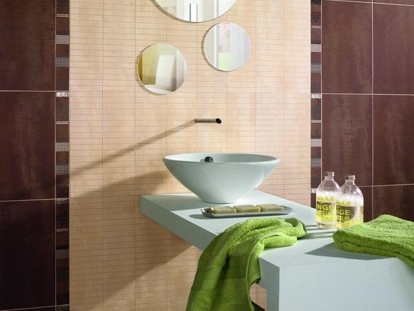 1-model faianta decorativa bej chiuveta baie