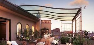1-model pergola metalica pentru terasa si balcon