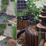 1-modele de fantani arteziene din lemn cu design rustic pentru gradina