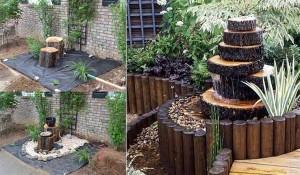 Modele de fantani arteziene DIY din lemn pentru o gradina racoroasa
