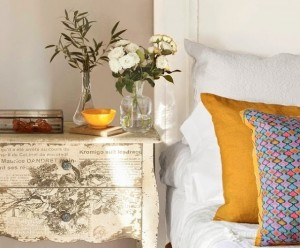 1-noptiera cu sertare decor decoupage shabby chic amenajare dormitor