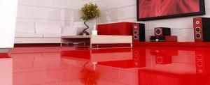 1-pardoseala epoxidica rosie in amenajarea unui interior modern