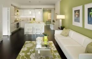 1-pardoseala wenge living si bucatarie open space moderne