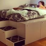 DIY – cum poti transforma dulapurile de bucatarie intr-un pat pe platforma inaltata