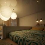 1-pat dormitor matrimonial tavan inalt si multe surse de iluminat
