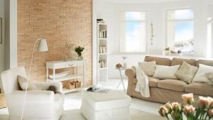 1-perete de accent decorat cu panouri din lemn 3D UltraWood