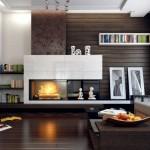 1-perete decorat cu lemn living modern minimalist