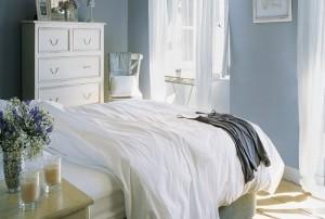 1-pereti bleu pentru un dormitor racoros