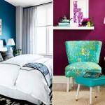 Pereti de accent in culori tari pentru interioare indraznete