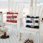 1-pernute decorative cu imprimeu maritim