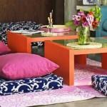 Idei chic pentru casa: pernutele decorative de podea